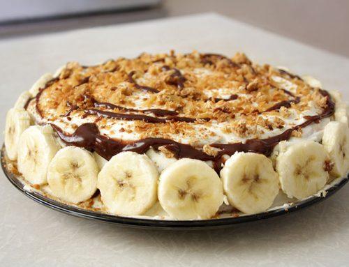 Torta di banane al cioccolato